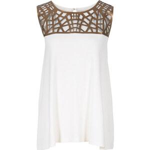 BODYFLIRT Top in weiß (Rundhals) für Damen von bonprix