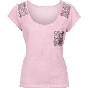 BODYFLIRT Shirt mit Pailletten in rosa für Damen von bonprix