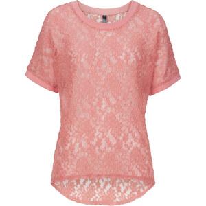 RAINBOW Spitzen-Shirt, kurzarm in orange für Damen von bonprix