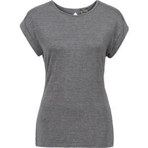 RAINBOW Shirt mit Rückendetail kurzer Arm in grau für Damen von bonprix