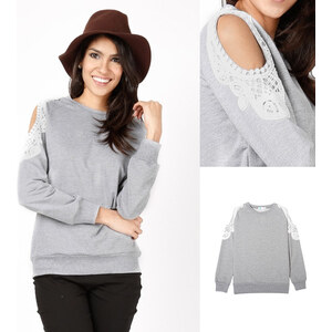 Lesara Sweater mit Schulter-Cut-Outs - S