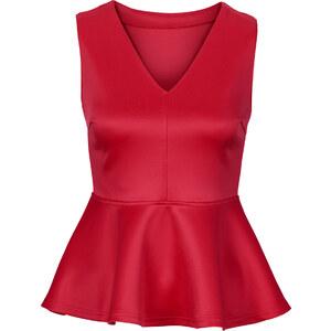 BODYFLIRT Schößchen-Top in rot für Damen von bonprix
