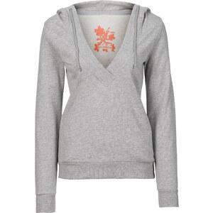 RAINBOW Sweatshirt in grau (V-Ausschnitt) für Damen von bonprix