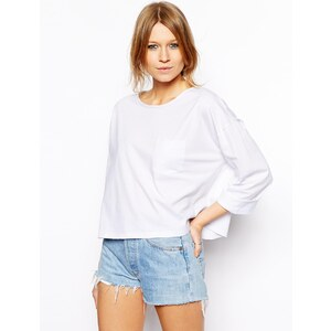 ASOS Cropped Slouchy T-Shirt with Pocket