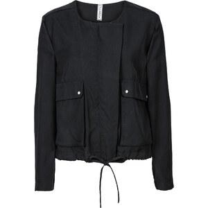 RAINBOW Kurz-Jacke langarm in schwarz (Rundhals) für Damen von bonprix