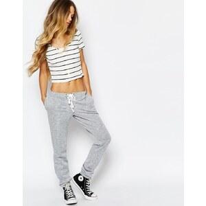 Glamorous - Pantalon de survêtement chiné avec lien sur le devant - Gris
