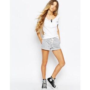 Glamorous - Space Dye - Shorts zum Schnüren vorne - Grau