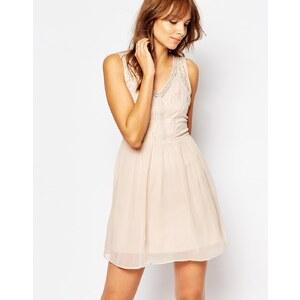 Vero Moda - Kleid mit Spitze - Rosa