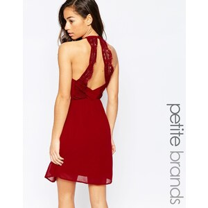Vero Moda Petite - Robe avec dos travaillé - Rouge