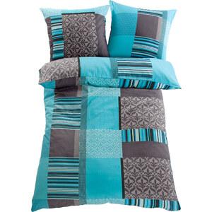 bpc living Linge de lit Matis, microfibres bleu maison - bonprix