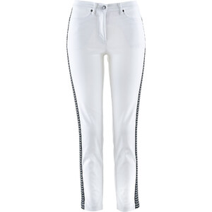 bpc selection Pantalon extensible 7/8 avec broderie blanc femme - bonprix