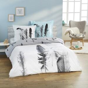 Home Linen Parure housse de couette 100% coton - Plumesque 140x200 cm + 1 taie d'oreiller 65x65 cm
