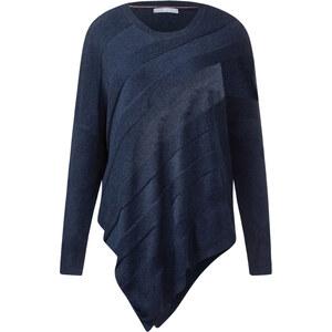 Cecil Strukturmix-Pullover - deep blue melange, Herren
