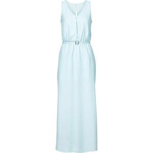 BODYFLIRT Maxi-Kleid in blau (V-Ausschnitt) von bonprix
