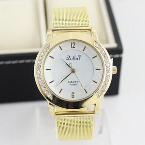 Lesara Armbanduhr mit Strass-Reihe