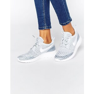 Nike - Roshe Platinum - Weiße Sneakers aus Fly Knit - Platin/Weiß