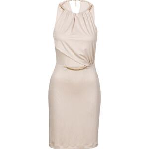BODYFLIRT Kleid in beige von bonprix