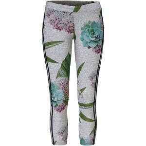 adidas Originals Leggings, Blumen-Print, Markenstickerei