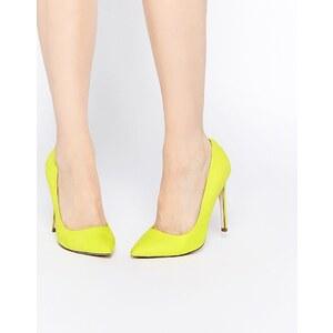 ASOS - PLAYFUL - Chaussures larges à talons et bouts pointus - Jaune