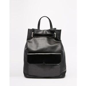 ASOS - Schlichter Rucksack mit Taschen - Schwarz