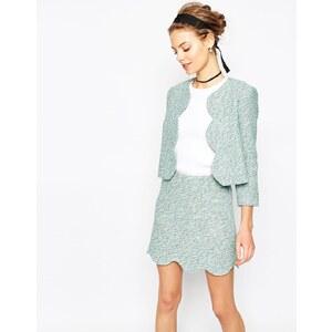 ASOS - Blazer coordonné en tweed à bordures festonnées - Multi