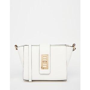 ASOS- Flügeltasche zum Umhängen mit Zierschloss - Weiß