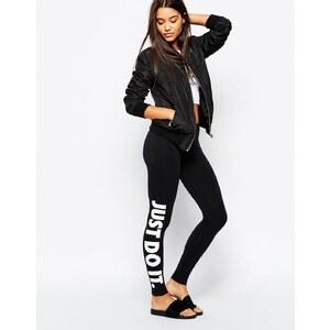 Nike - Leg-A-See - Leggings mit kleinem Logo - Schwarz