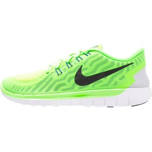 Nike Performance FREE 5.0 Laufschuh Natural running voltage green/black/white/racer blue