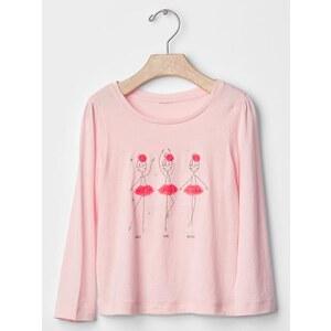 Gap Graphic Long Sleeve Tee - Pink cameo