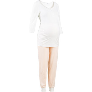 Still-Pyjama in weiß für Damen von bonprix