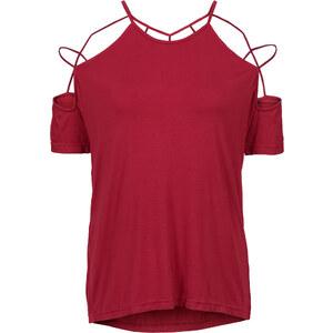 RAINBOW Shirt mit Cut-outs kurzer Arm in rot für Damen von bonprix