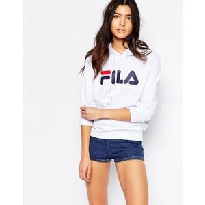 Fila - Sweat à capuche oversize à enfiler avec grand logo - Blanc
