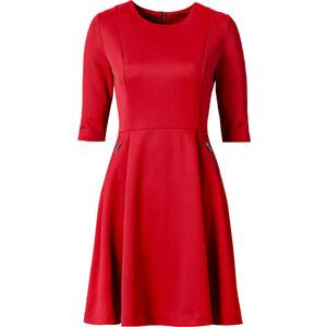 BODYFLIRT Robe néoprène rouge manches 3/4 femme - bonprix