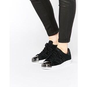 adidas Originals - Superstar - Baskets à bout renforcé métallique style 80's - Noir - Noir