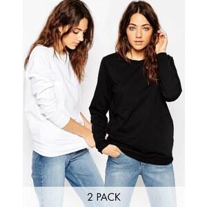 ASOS - The Ultimate - Boyfriend-Sweatshirts im 2er Pack, 10% sparen