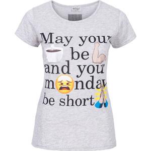 RAINBOW T-shirt gris manches mi-longues femme - bonprix