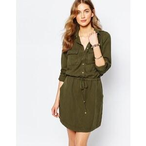 Pimkie - Robe chemise fonctionnelle - Vert
