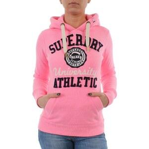 Superdry Sweater Women APPLIQUE SUPER STATE UNI Ultra Snowy Neon Pink Größe XL