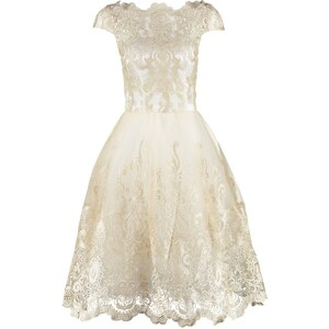 Chi Chi London Cocktailkleid / festliches Kleid white/gold