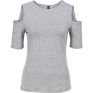 RAINBOW Shirt mit Cut Outs in grau für Damen von bonprix