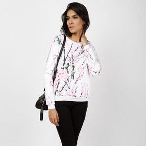Lesara Sweatshirt mit Blüten-Print - S