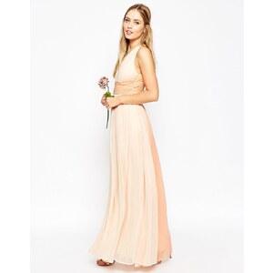 ASOS WEDDING - Hollywood - Maxikleid in Kontrastfarben - Sanftrosa