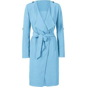 BODYFLIRT Trench-coat léger avec ceinture en tissu bleu manches longues femme - bonprix