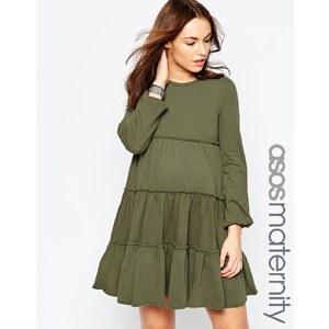 ASOS Maternity - Schwingendes Kleid in Lagen