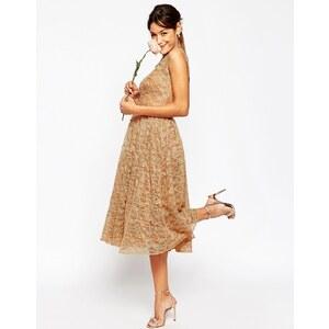 ASOS WEDDING - Robe de bal de fin d'année en dentelle - Rose