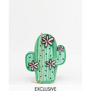 Skinnydip - Exklusive Umhängetasche in Kaktus-Design - Grün