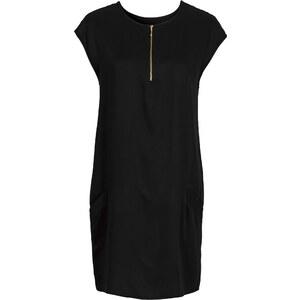 BODYFLIRT Kleid mit Taschen/Sommerkleid in schwarz von bonprix