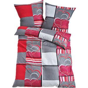 bpc living Parure de lit Anita, linon rouge maison - bonprix