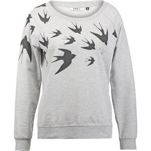ONLY ONLBIRDY Sweatshirt light grey melange