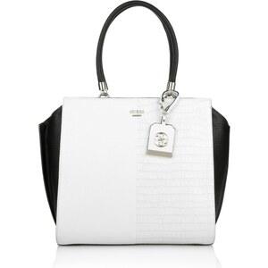 Guess Tasche - Casey Shopper Chalk Multi - in weiß, schwarz - Henkeltasche für Damen